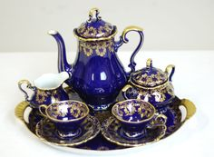 ♥•✿•♥•✿ڿڰۣ•♥•✿•♥ ♥   German 8-Piece Tea Service by Lindner  ♥•✿•♥•✿ڿڰۣ•♥•✿•♥ ♥