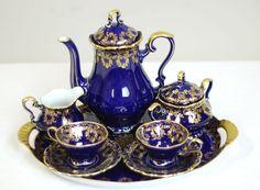 ♥•✿•♥•✿ڿڰۣ•♥•✿•♥ ♥   German 8-Piece Tea Service by Lindner  ♥•✿•♥•✿ڿڰۣ•♥•✿•♥ ♥
