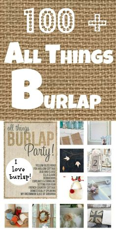 All things #burlap