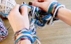Check out Vickie Howell for @Yarnspirations how-to Arm Knit video!