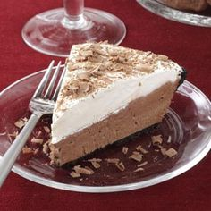 Chocolate Lover's Cream Pie Recipe from Taste of Home -- shared by Jenn Stewart of Lavergne, Tennessee