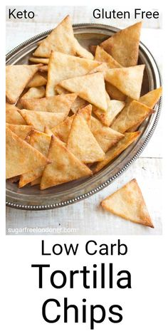 Crispy, crunchy and perfect for dipping! These Keto low carb tortilla chips taste just as good as the real thing, but with a fraction of the carbs. lowcarb keto lchf snack tortillachips healthyrecipe lowcarbrecipe cleaneating glutenfree via Low Carb Bread, Keto Bread, Low Carb Keto, Low Carb Recipes, Snack Recipes, Healthy Recipes, Healthy Chips, Diet Recipes, Low Carb Snack Ideas