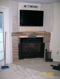 Corner Fireplace Mantels Gas