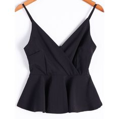 Fashionable Spaghetti Strap Flounced Hem Crop Top For Women Night Outfits, Dress Outfits, Casual Outfits, Cute Outfits, Fashion Outfits, Fashion Site, Fashion Heels, Fashion Clothes, Latest Fashion For Women