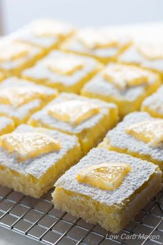 Low Carb Lemon Bars full of bright, lemony flavor are a ketogenic dieter's dream! This dessert is sugar-free, low carb, gluten-free, keto and THM.