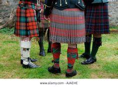 Group Of Men Wearing Traditional Kilts, West Highlands, Trossachs ...