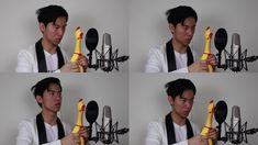 An Amusing Multi-Track Classical Arrangement of Pachelbel's Canon Using a Rubber Chicken Musician Eddy Chen, one part of the Australian musical/comedy duo TwoSet Violins, carried out a very a laugh. Canon De Pachelbel, Pachelbel's Canon, Rubber Chicken, Richard Wagner, Middle School Music, Comedy Duos, Music Memes, Cover Songs, Elementary Music