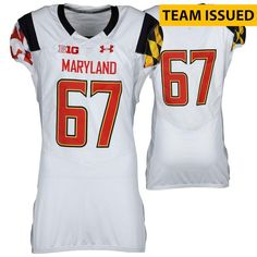 e0388ab7e ... Logo - Fanatics Authentic Maryland Terrapins Fanatics Authentic  Team-Issued   Pride    67 White Jersey with Big 10 Patch - Size 46 -  AdoreWe.com