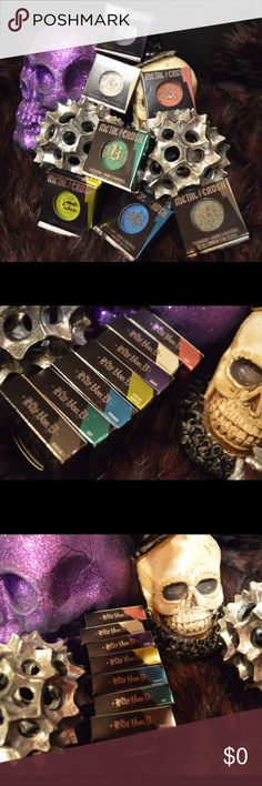 NEW metal crush Kat Von d eyeshadow INDIVIDUAL ||  Kat von D metal crush eyeshadow  ||  NEW WITH TAGS  || 3 LEFT !!!!  || colors left || 2 black no 1 • 1 dove     Use the OFFER BUTTON • bundle for 10% off       🤗 please no drama ladies lets be nice 🤗    • 5 star rating • over 300 sales • smoke free home • 100% authentic • packedtokill •         |💀| www.thethugwife.com |💀|            🚫 🙅🏻 N O   TRADES 🙅🏻 🚫 Kat Von D Makeup Eyeshadow