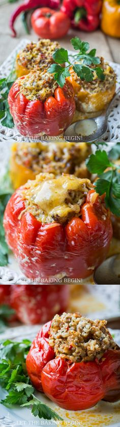 Stuffed Peppers - Soft Flavorful Pepper Shell encasing the most delicious Beef Rice filling. by Let the Baking Begin! Фаршированные перцы - Russian Food, Recipes
