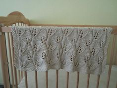 Leafy Baby Blanket - Patron Manta de hojas para bebe