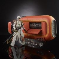 COMING SOON NOTIFY ME Star Wars Black Series 6 Inch Action Figure - Rey with Speeder