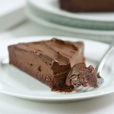 Chocolate Tart with no refined sugar. Paleo, Raw, and Totally Delicious.