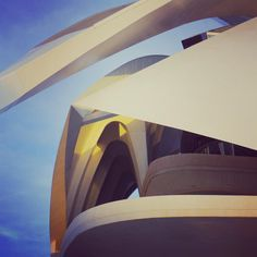 photo by miGUEL HERRANZ via Instagram @miguelherranz_design > The sunset light is inside > Palau de les Arts Reina Sofia - The City of Arts and Sciences in Valencia (in front of my house) Spain | photography | taken by me |  photo architecture