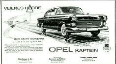 1958 Opel Kaptein Classic Motors, Classic Cars, Vintage Ads, Cars And Motorcycles, Norway, Posters, Autos, Europe, Antique Cars