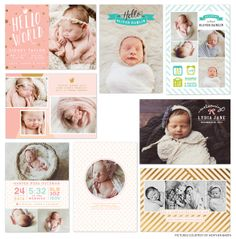 Professional designs and templates for photographers, photocards templates, albums templates, frames, design elements and marketing products Birth Announcement Template, Birth Announcement Boy, Birth Announcements, Coloring For Boys, Second Child, Tool Design, Card Templates, Photo Book, Baby Photos