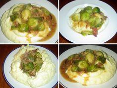 Růžičková kapusta s bramborovou kaší. Nebo chcete-li: Kapustičky se slaninou     MAKOVÁ PANENKA Baked Potato, Sprouts, Cooking Recipes, Potatoes, Baking, Vegetables, Ethnic Recipes, Food, Fitness