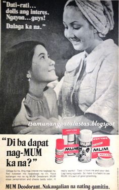 Lorna Tolentino , the acclaimed grandslam drama queen along with Nora Aunor, Vilma Santos and Sharon Cuneta, began her showbiz career a. Vintage Vibes, Vintage Ads, Old Advertisements, Advertising, Philippines Culture, Filipino Culture, Colorized Photos, Pinoy, Manila