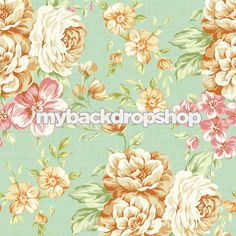 3ft x 3ft Shabby Chic Floral Wallpaper Backdrop for Photos - Girly Photo Booth Background  - Item 51