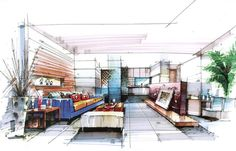 interior hand rendering - Google 搜尋