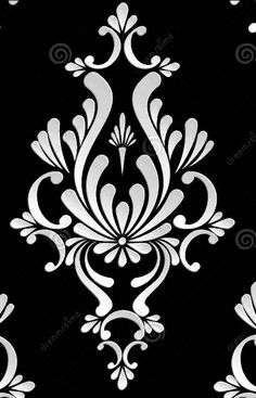 Like this pattern too. Graphic . Damask | embroidery patterns ...