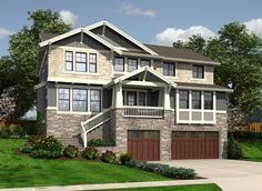 Sloping Lot (Up Hill) Plans - Stock Home Plans for Every Style - Your Family Architect - Architects Northwest