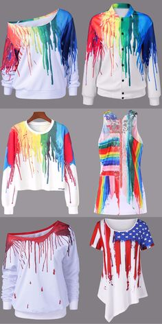 Paint Drip Outfits | Start at $6.93 | Red Hoodies | Black Pullovers | V Neck Pullovers | White Hoodies | One Shoulder Sweatshirt | Queen Sweatshirt | Thick Hoodie | Ripped Hoodie | Sammydress.com