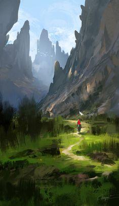 Digital Panting / Concept Art / Landscape / SciFi / Science Fiction / Other Planet / Future / Surreal / Mystic / Fantasy // ♥ More at: https://www.pinterest.com/lDarkWonderland/