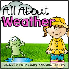 Weather Unit - Math, Literacy, and SO Much More! (Aligned to Common Core)I use this for my 3 week unit on Weather. All the centers are made in color and some are also provided with a black/white option. Included in this Unit:-Planning Guide/Book Recommendation-Graphic Organizers: KWL and Tree Map-Word Splash Vocabulary for each type of weather-Word Splash words recording sheet (2 different options)-'All About Weather' non-ficiton writing books: cover title, table of contents, and 6…