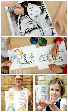 """A fabulous Andy Warhol Project for kids - how to pop art dad using a simple method that even those that """"can't draw"""" can do..."""