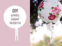 "DIY Paper Lanterns *To clarify: this should read ""Decorate-It-Yourself"" Paper Lanterns.it's nice, although not a DIY Paper Lantern tutorial ; Do It Yourself Inspiration, Diy Inspiration, Shower Inspiration, Blog Da Carlota, Diy Fleur, Papier Diy, Diy And Crafts, Paper Crafts, Do It Yourself Wedding"
