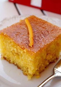 Portakallı Revani 3 Desserts with Cake Recipes, Snack Recipes, Dessert Recipes, Cooking Recipes, Snacks, Turkish Sweets, Greek Sweets, Cake Recipe Using Buttermilk, Middle Eastern Sweets