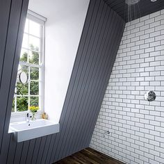 Looking for ideas for a loft conversion? Take a look at our great attic renovation ideas, from bedroom loft conversions to bathroom loft conversions Attic Renovation, Attic Remodel, Bath Remodel, Attic Rooms, Wet Rooms, Attic Playroom, Attic Apartment, Loft Bathroom, Simple Bathroom
