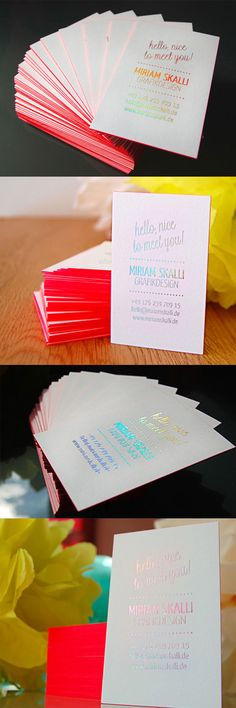 Iridescent Foil Business Cards | Business Cards | The Design Inspiration