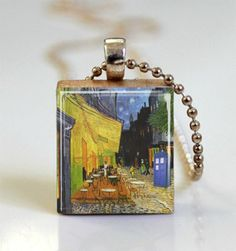Doctor Who Tardis Necklace Blue Police Box by MissingPiecesStudio, $7.95