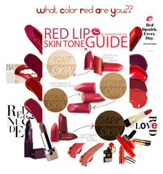 """""""Red lips color guide...#beauty #redlips #skintone #guide #red #lips #lipstick #contestentry"""" by fashionlibra84 ❤ liked on Polyvore featuring beauty, Ellis Faas, Lipstick Queen, Primp, Dolce&Gabbana and Marc Jacobs"""