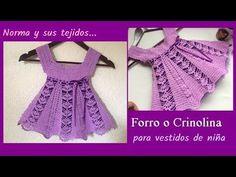 Vestido lila a crochet para 1 año ( parte 1) - YouTube