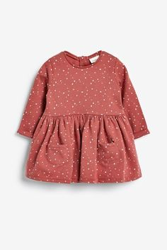 Buy Rust Sweat Dress from the Next UK online shop Beach Wear Dresses, Girls Dresses, Simple Dresses, Casual Dresses, Kids Dress Patterns, Baby Girl Pajamas, Rose Clothing, Sweat Dress, Stylish Girl Images