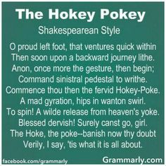 How Shakespeare and the gang use to break it down.  Tis what it's all about!