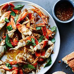 Cracked Crab with Lemongrass, Black Pepper, and Basil (sub coconut oil and coconut aminos)