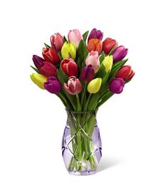 Tulip Bouquet Discover Spring tulips in a variety of colors. The perfect flowers for Mothers Day delivery. off your order today. Easter Flowers, Mothers Day Flowers, Tulips Flowers, Spring Flowers, Send Flowers, Tulpen Arrangements, Spring Flower Arrangements, Floral Arrangements, Fresh Flower Delivery