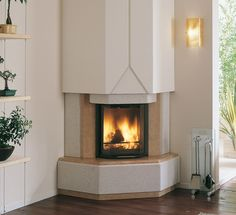 Fireplaces and stoves - Palazzetti Home Fireplace, Fireplace Remodel, Modern Fireplace, Pizza Oven Outdoor, Ceiling Light Design, Log Burner, Textured Walls, House Plans, New Homes