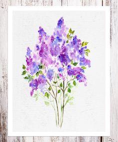 Another great find on #zulily! Lilac Bouquet Art Print #zulilyfinds