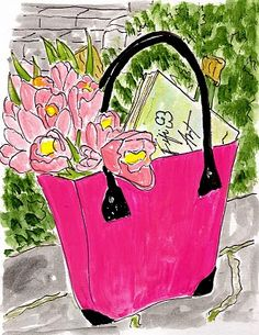 French Baskeeter painted by Fifi Flowers