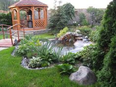 3d Max, Water Features, Garden Bridge, Garden Landscaping, Garden Ponds, Pergola, Cottage, Outdoor Structures, Cabin