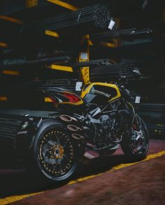 Yellow MV Agusta Dragster
