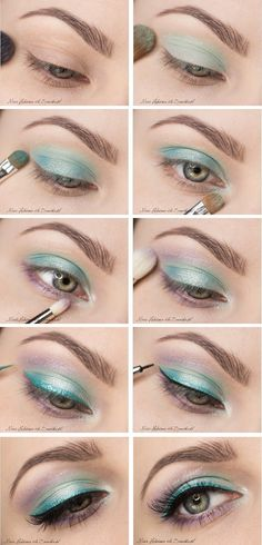 Light colors for spring makeup