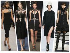 Los mejores vestido negros para otoño 2013