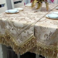 Yi Dian Margin of gold, cloth table runner simple fashion European-style luxury flags of auspicious flowers table runner table flag placemat mat