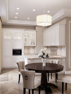 120 inspiring kitchen cabinet colors and ideas that will blow you away 31 Kitchen Dinning, Home Decor Kitchen, Interior Design Living Room, Home Kitchens, Apartment Kitchen, Küchen Design, House Design, Kitchen Cabinet Colors, Dining Room Design